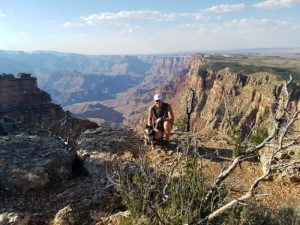 Kuma camps at Desert View in The Grand Canyon!